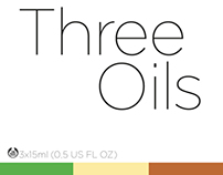 Three Oils packaging design