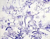 20cent ballpoint biro orchid illustration2