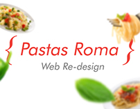 Pastas Roma / Web re-design