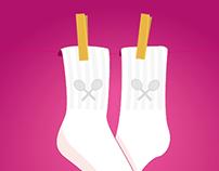 Valentines - Rackets Socks
