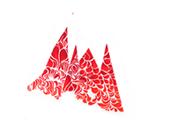 Negative Space Mountains (Red)