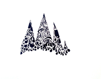 Negative Space Mountains (Black)