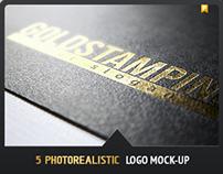 5 Photorealistic Logo Mock-Up | Pack 1