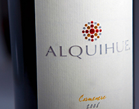 ALQUIHUE WINE LABEL