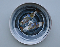 Salmon Series: Stoneware Platters and Bowls - 2013