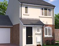 House in new residential development
