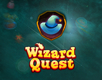 "Fantasy UI for ""Wizard Quest"", social puzzle-game"