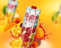 juice packaging design «Frutel»