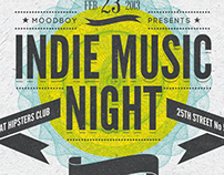 Indie Music Night Flyer/Poster
