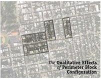 Qualitative Effects of Perimeter Block Configuration