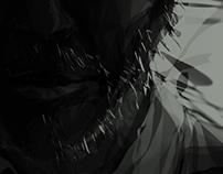 ILLUSTRATION / Happy dark portrait