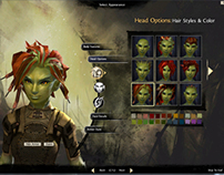 Guild Wars 2 UI: Character Creation Flow & Design