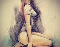 Sketches - Crayons, Pastels, Pencil Colors