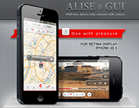 Alise iPhone GUI Pack / for Retina Display