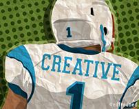 Creative Quarterback Editorial Illustration