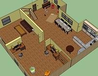Living room layout - Google SketchUp
