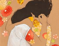 Kraft Flower Collages