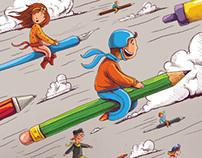 pencil race