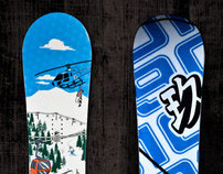 9010 Snowboards Product Graphics