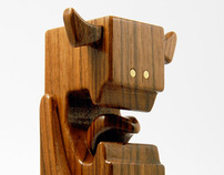 "WALNUTI - 4"" Wood Toy by pepe"