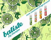 Applied graphics / Batiste / 4 new fragrance