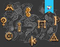 Illustration of the mechanism Wacom & Ps