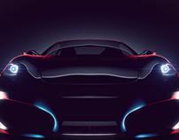 Ferrari in light