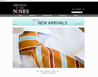 Dressed to the Nines retail website
