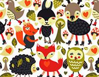 Various cartoon patterns