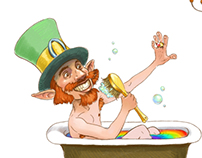 Leprechaun in the day off