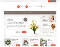 Flower Sales Site Theme