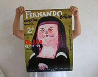 Botero Monalisa kids art class poster