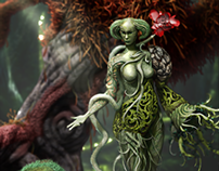Forest Female: 2D concept and 3D model