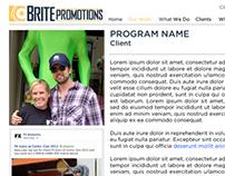 Brite Promotions Web Site