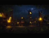 Night in little town
