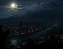 Verona by night [Matte Painting]