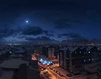 Cracow by night [Matte Painting]