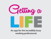 Getting A Life iOS mobile app design