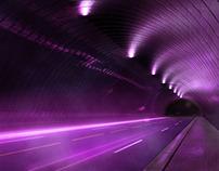 3D Purple Highway