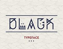 BLACK typeface