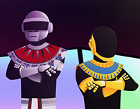 Daft Punk: French House Pharaohs (Poster)