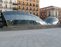 New suburban exchanger at Sol square (Madrid, Spain)