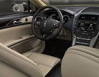 photo real car interior 3D rendering