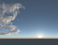 Early test of digital sky for car rendering