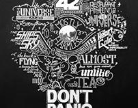 Tribute to Douglas Adams. In Chalk Art.