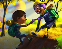 children's book :  Fazer amigos é