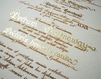 Calligraphy Diploma honoris causa for Peter Greenaway
