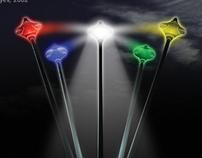Night Rainbow lighting system concept, 2002