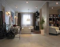 Interior renderings of private apartment