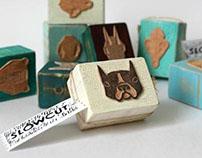 Linocut stamps